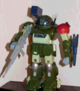 Red Shoulder Scopedog ATM-09-RSC 1/24 scale Takara 1983 from anime Armored Trooper VOTOMS 1983-1984 loose front side Soukou Kihei VOTOMS