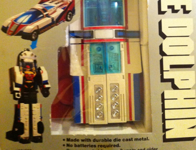 Machine Dolphin GoDaiKin 1984 by Bandai aka Machine Man PC-43 from live action show Seiun Kamen Machineman 1984 other names 星雲仮面マシンマン Seiun Kamen Mashinman, or Nebula Mask Machineman