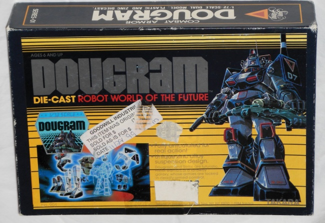Combat Armor Dougram Takara 1984 1/72 scale from anime tv show Taiyou no Kiba Dougram 1981-1983 front box cover 太陽の牙ダグラム