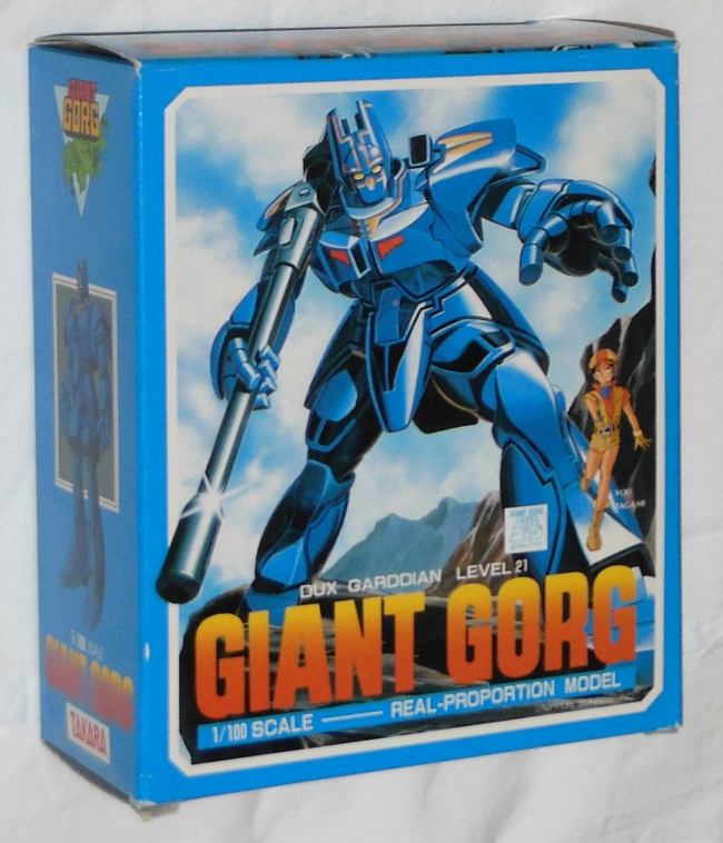Giant Gorg ST 1/100 Scale Real Proportion Model Takara 1984 front box cover from anime tv show Kyoshin Gorg 1984 other names Kyoshin Gorg, 巨神ゴーグ