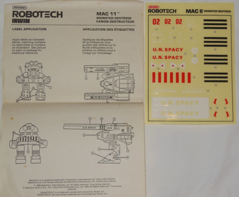 Matchbox Robotech Mac II Monster Destroid Cannon from Robotech: The Macross Saga 1985 超時空要塞マクロス
