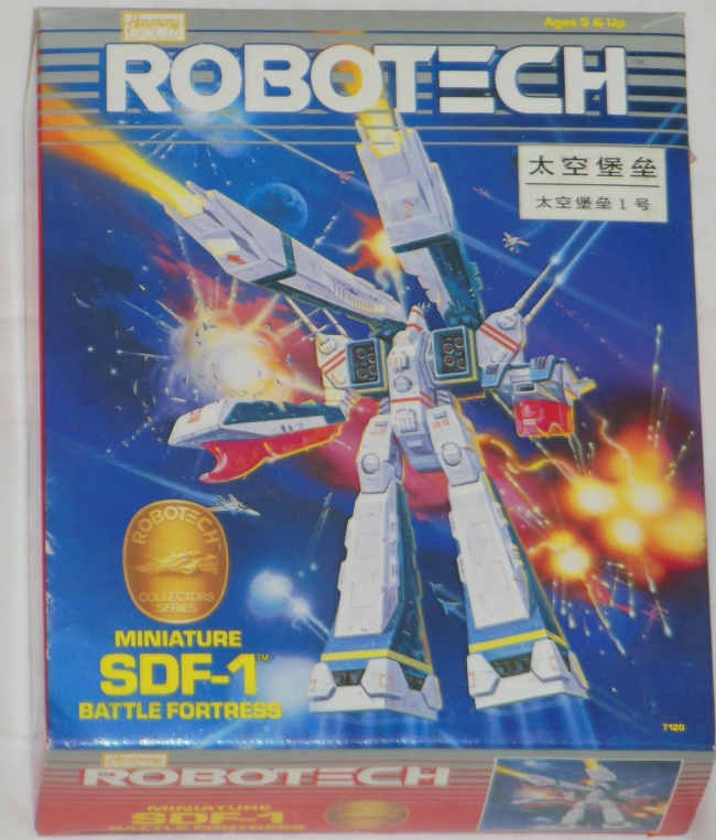 Robotech Miniature SDF-1 Battle Fortress by Harmony Gold ST front box cover from anime Super Dimension Fortress Macross 1982-1983 other names Cho Jiku Yosai Macross, Guerra das Galáxias, Fortezza Super Dimensionale, 超時空要塞マクロス, 초시공요새 마크로스