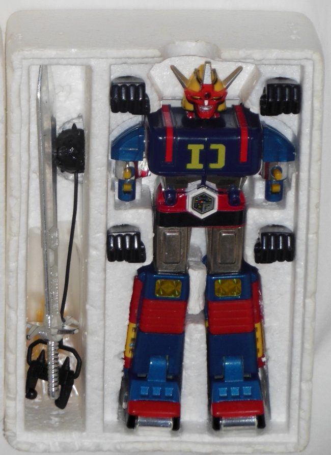 Daidenjin GoDaiKin Bandai 1984 aka GB-14 Daidenjin DX Popy Japan 1980 from the live action show Denshi Sentai Denziman(電子戦隊デンジマン Electronic Squadron Denziman) 1980-1981 styrofoam insert