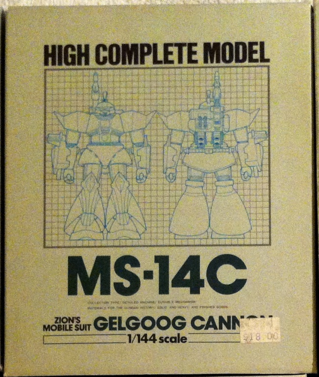 High Complete Model MS-14C Gelgoog Cannon Zion's Mobile Suit Bandai Japan 1984