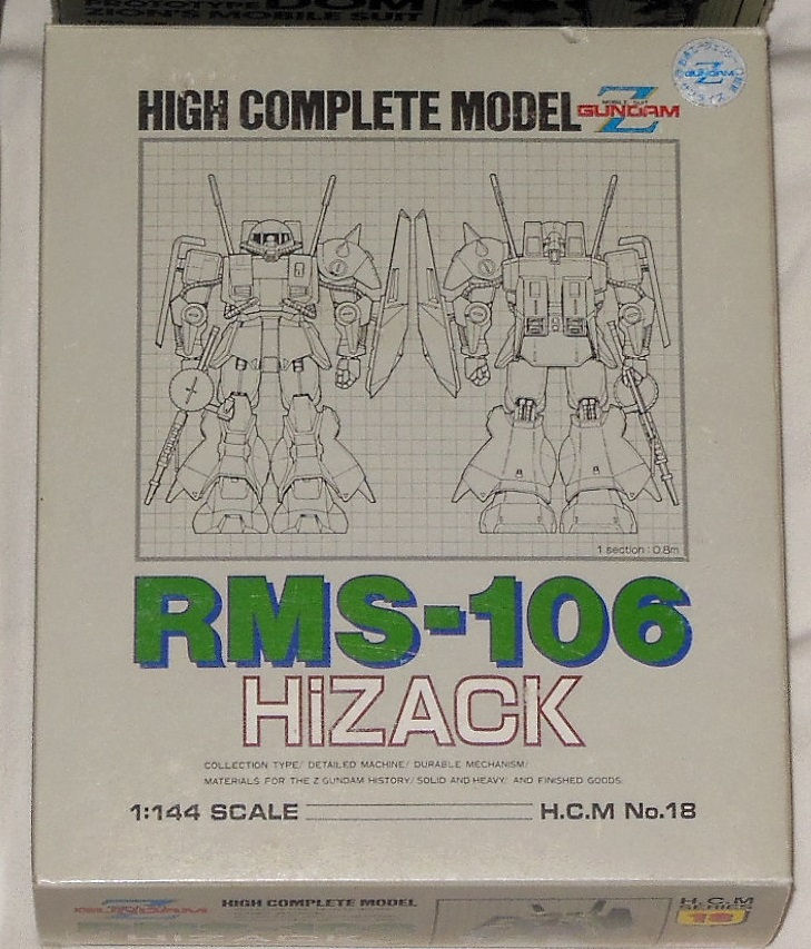 High Complete Model RMS-106 Hi Zack 1/144 Z Gundam HCM 18 Bandai Japan box front