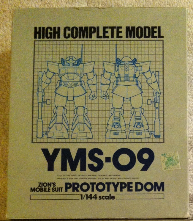 High Complete Model HCM YMS-09 Zions Mobile Suite Prototype Dom front cover