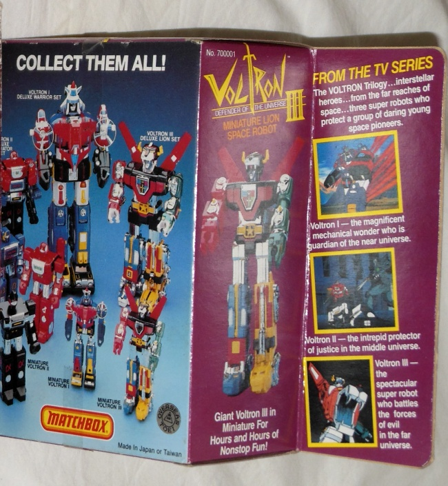 Voltron III Matchbox Defender of the Universe Miniature Lion Space Robot aka Golion back box cover GB-35 ST Popy 1981 from cartoon Voltron Defender of the Universe 1984-1985 other names Beast King GoLion, Hundred-Beast King Go Lion, Hyakujū Ō Golion, King of Beasts Golion, Lion Force Voltron, Voltron III, Voltron of the Far Universe, Voltron, difensore dell'universo, Voltron, el defensor del universo,百獣王ゴライオン
