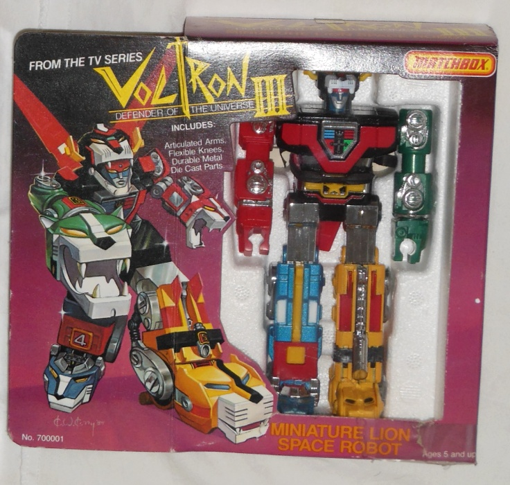 Voltron III Defender of the Universe Miniature Lion Space Robot Matchbox 1984 aka Golion GB-35 ST Popy 1981 from cartoon Voltron Defender of the Universe 1984-1985