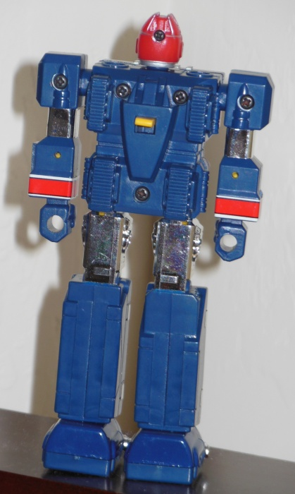 (フラッシュキング Furasshu Kingu)Flash King GC-33 ST by Popy Bandai Japan 1986 from live action show Choushinsei Flashman(超新星フラッシュマン) 1986-1987 loose robot back