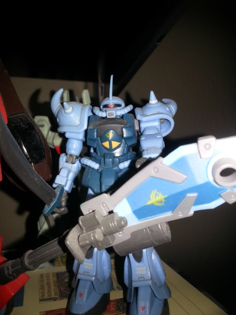 Gundam MSIA Gouf Custom MS-07B3 Bandai 2003 from the anime Mobile Suit Gundam: The 08th MS Team(機動戦士ガンダム 第08MS小隊) from 1996-1999