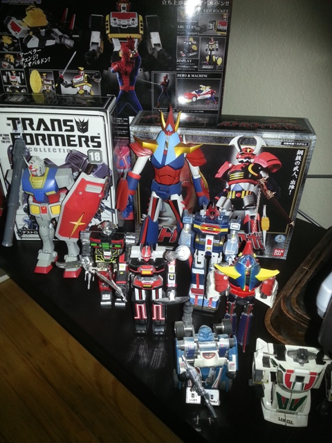 Leopardon, Soundblaster, Battle Fever J, Gundam 0078, Laserion ST, Raydeen, Dynaman ST, Bioman ST, Raydeen Shogun Warrior, Mirage, Wheeljack