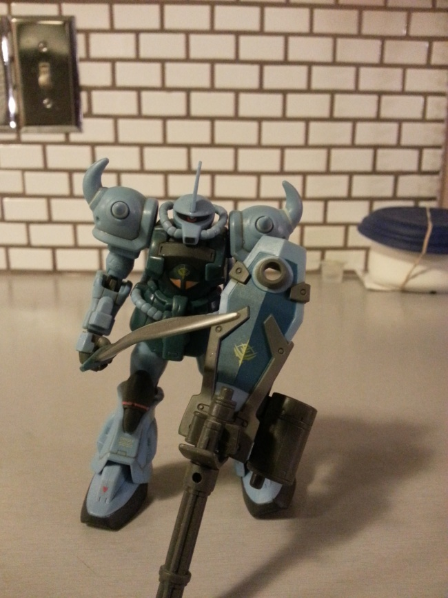 Gundam MSIA Gouf Custom MS-07B3 Bandai 2006 from the anime Mobile Suit Gundam: The 08th MS Team(機動戦士ガンダム 第08MS小隊) from 1996-1999