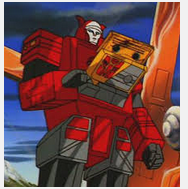 Blaster cartoon still from Transformers Generation 1