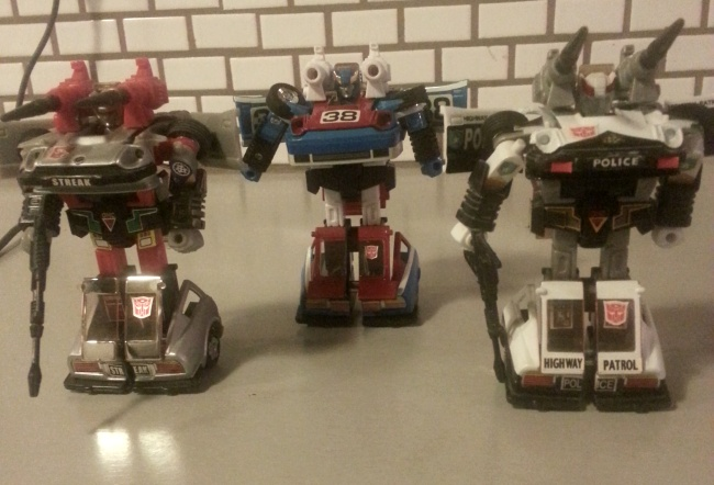 Bluestreak, Smokescreen and Prowl Transformers G1 Autobots