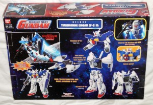 Deluxe Transforming Gundam GP 01 Fb Bandai 2001 back box