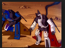 Dirge and Ramjet Transformers cartoon still Conehead Seekers from Generation 1 G1