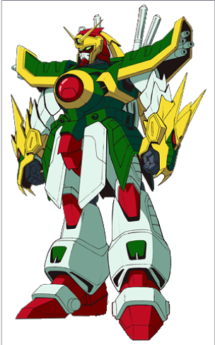 Dragon Gundam representing China from the anime G Gundam 1994-1995(機動武闘伝Gガンダム Kidou Butouden G Gundam)