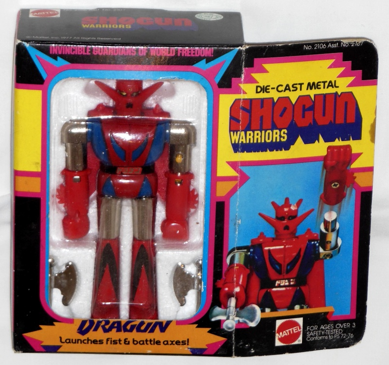 Dragun Shogun Warriors Mattel 1979 originally GA-10 Getter Robo Popy 1975 from anime tv show Getta Robo G 1975-1976 front box cover
