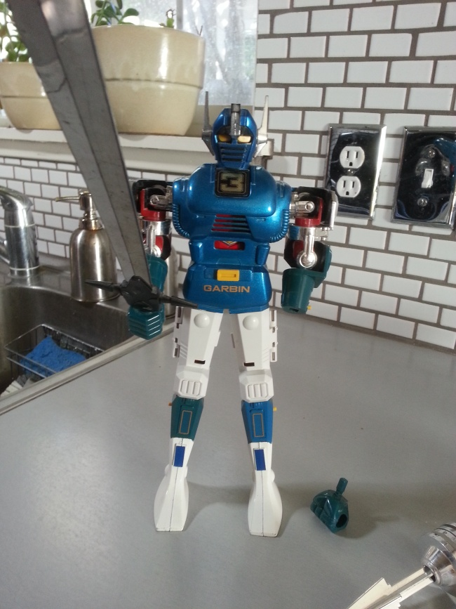 Gardian DX Godaikin 1982 came out originally in Japan as Popy GB-09,GB-10, and GB-11 in 1979 from anime Champion of Gordian, Gardian, Champion Gordian, Fighter Gordian