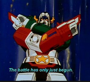 Still from Beast King GoLion 1981-1982 or Voltron: Defender of the Universe 1984-1985 aka Hundred-Beast King Go Lion, Hyakujū Ō Golion, King of Beasts Golion, Lion Force Voltron, Voltron, difensore dell'universo, Voltron, el defensor del universo