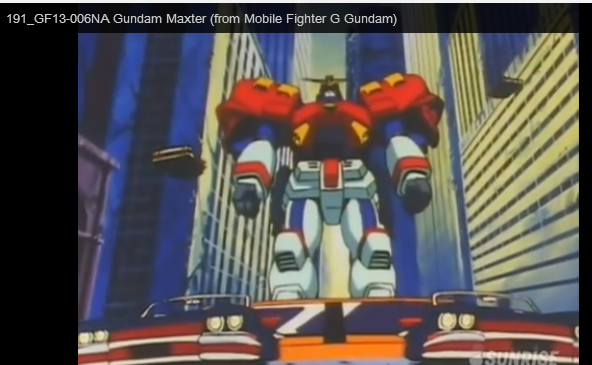 GF13-006NA anime still Neo America The Maxter Gundam is piloted by Chibodee Crocket of Neo America a champion boxer. From anime Kidō Butōden G-Gundam(機動武闘伝Gガンダム) 1994-1995