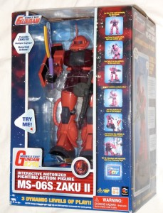 MS 06S Zaku  II Interactive Motorized Think Way front box
