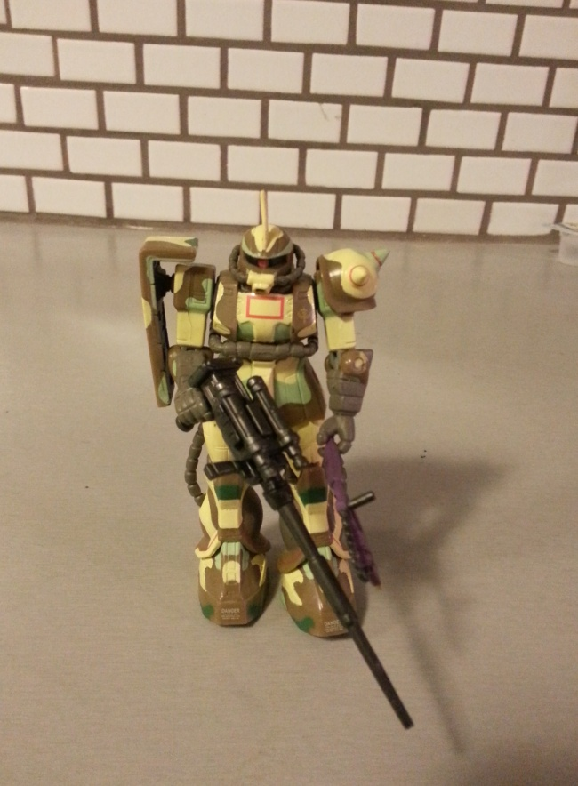 MSIA Zaku II MS-06J Camouflage Zaku ver. Mobile Suit in Action 2000 Bandai Japan From anime 1 Year War in 0079(機動戦士ガンダム Kidō Senshi Gandamu) 1979-1980