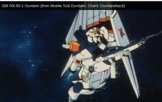 Nu Gundam RX-93 anime Still from Char's Counterattack