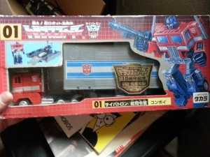 Optimus Re-Issue Japan Convoy 01 Japanese G1 - 15th Anniversary Edition Takara - Optimus Prime 2000
