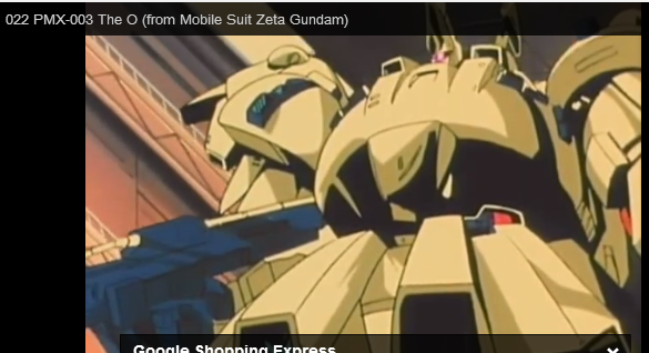 PMX-003 The-O MSIA from anime Mobile Suit Zeta Gundam (機動戦士Ζガンダム Kidō Senshi Zēta Gandamu) 1985–1986
