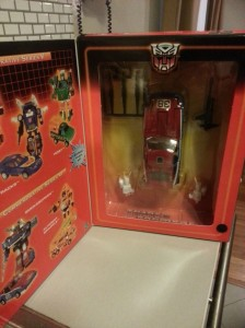 Transformers Generation 1 Smokescreen Commemorative Series VI 2003 inside the box