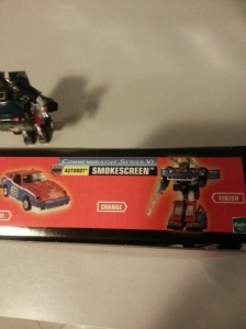 Smokescreen Transformers G1 Commemorative Series VI 2003 side box