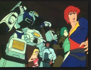 Anime show Akū Daisakusen Srungle 1983-1984 still Capitan Gorilla or Gorilla Force (Italian),Fuerza Especial Gorila or Grupo Especial Gorila (Spanish),Mission Outer Space Srungle, 亜空大作戦スラングル (Japanese)