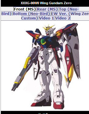 Wing Gundam Zero animated still XXXG-00W0 from anime Mobile Suit Gundam Wing Endless Waltz(新機動戦記ガンダムW: Endless Waltz - Shin Kidou Senki Gundam Wing Endless Waltz or 新新機動戰記鋼彈W 無盡的華爾滋) 1997