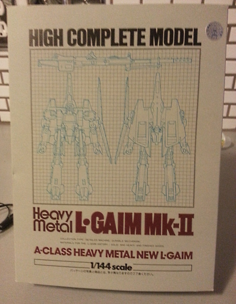 Heavy Metal L-Gaim MK-II A-Class HCM High Complete Model 1/144 scale Bandai 1984 from the anime tv show Heavy Metal L Gaim(Juusenki L-Gaim 重戦機エルガイム) 1984-1985