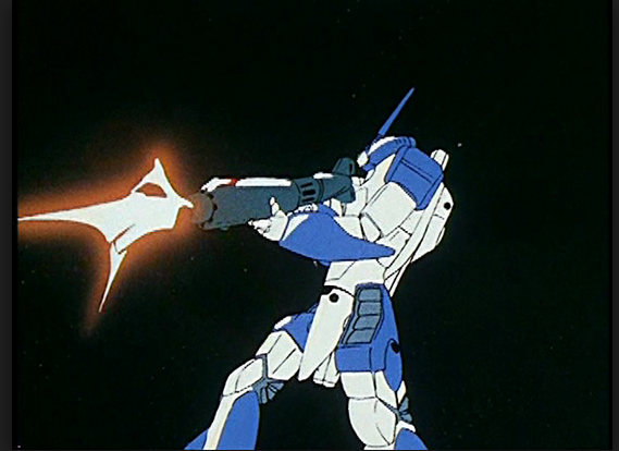 Variable Fighter VF-1J Valkyrie Max Jenius Sterling from from Super Dimension Fortress Macross( 超時空要塞マクロス or Chōjikū Yōsai Makurosu) animated still