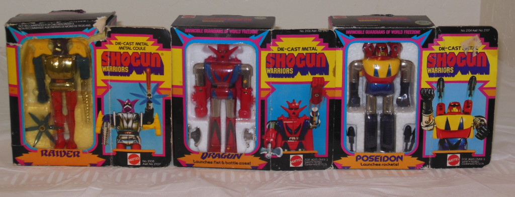 Dragun, Raider, &  Poseidon Mattel Shogun Warriors