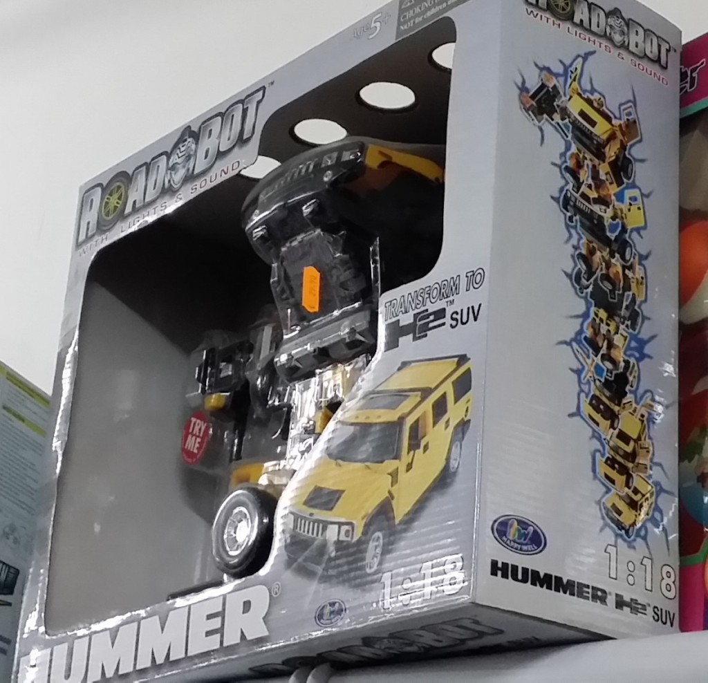 Road Bot No. 10 Hummer H2 SUV 1/18 scale 2009 by Aoshima Happy Well Skynet Roadbot