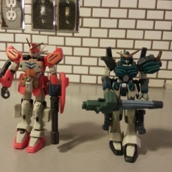 Heavyarms Custom XXXG-01H2 and Heavyarms XXXG-01H Gundam Wing Endless Waltz Bandai MSIA 2000 From anime Mobile Suit Gundam Wing(新機動戰記鋼彈W) & Endless Waltz(新機動戰記鋼彈W 無盡的華爾滋)