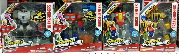 Hero Mashers 2014 Hasbro Megatron Optimus Prime Starscream Bumblebee