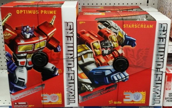Platinum Series Year of the Horse Optimus Prime & Supreme Starscream 2014 30th Anniversary