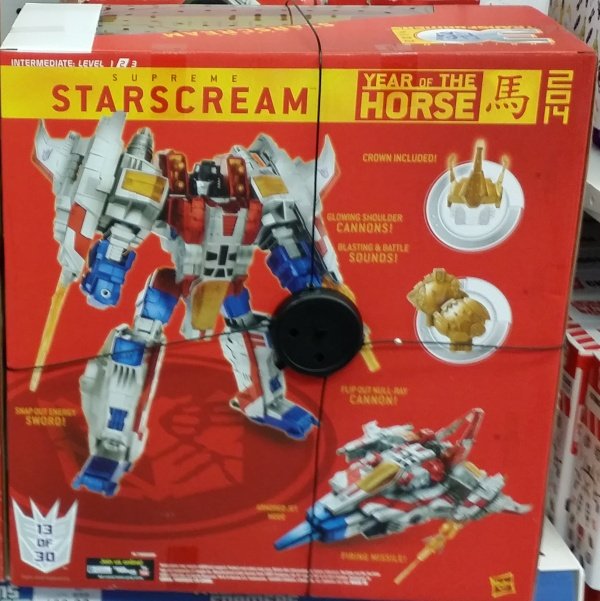 Platinum Series Year of the Horse Supreme Starscream 2014 30th Anniversary back box cover