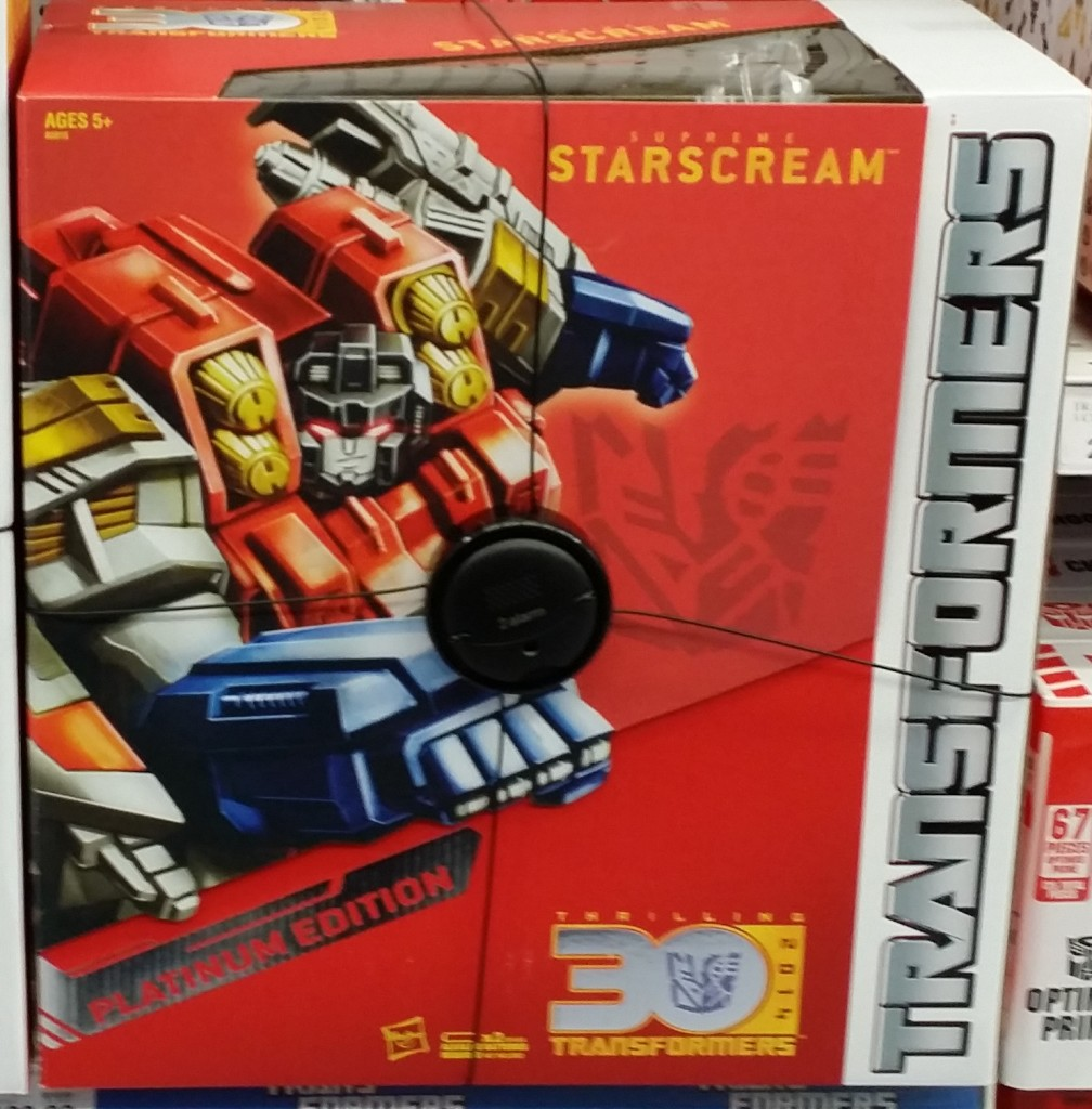 Platinum Series Year of the Horse Supreme Starscream 2014 30th Anniversary front box