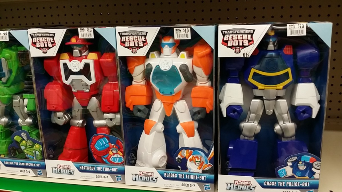 Transformers Rescue Bots Boulder the Construction-Bot, Heatwave the Fire-Bot, Blades the Flight-Bot, Chase the Police-Bot Playskool Heroes