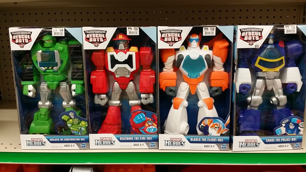 Transformers Rescue Bots Boulder the Construction-Bot, Heatwave the Fire-Bot, Blades the Flight-Bot, Chase the Police-Bot