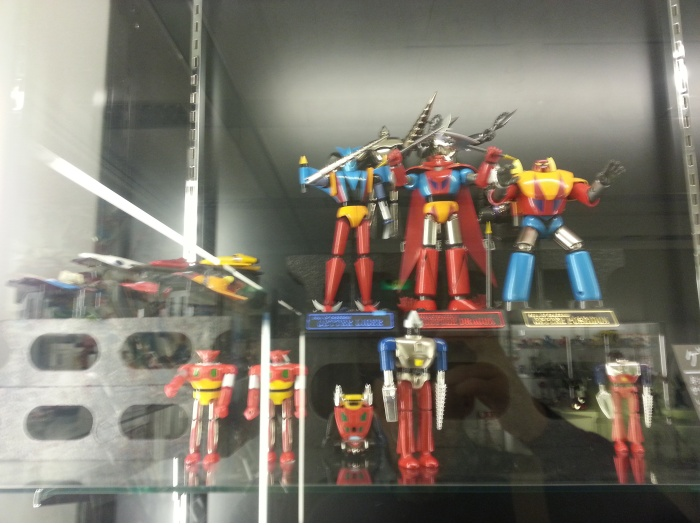 Bandai Museum Getter Robo robot display Tochigi prefecture Mibu