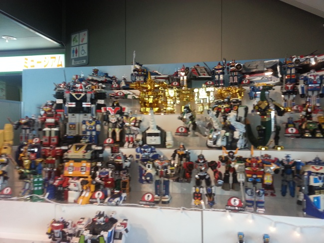 Bandai Museum Sentai robot display Tochigi prefecture Mibu Japan (バンダイミュージアム Bandai Myūjiamu)