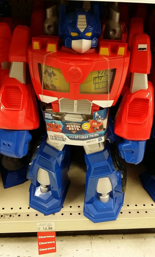 Toys R Us clearance Epic Optimus Prime Transformers Rescue Bots Transformers Rescue Bots 2014 Playskool Heroes