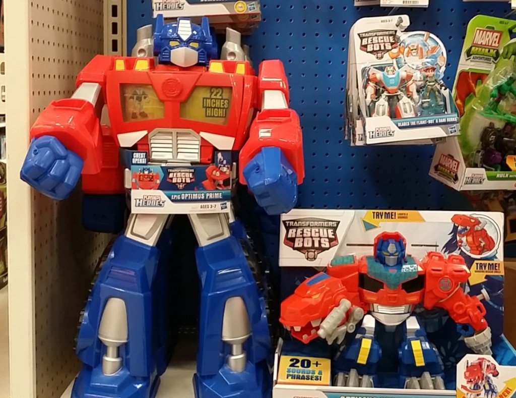 Epic Optimus Prime Transformers Rescue Bots vs Optimus Primal Transformers Rescue Bots 2014 Playskool Heroes