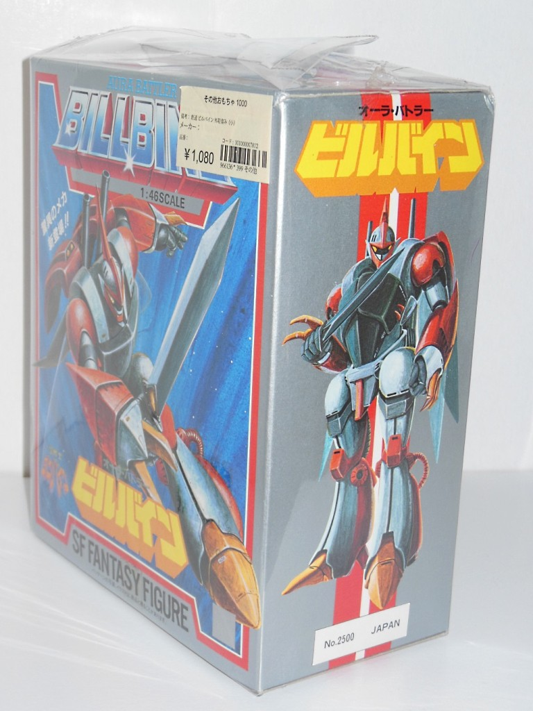 Aura Battler Billbine 1/46 scale SF Fantasy Figure KO Knockoff Left side of Box from anime Seisenshi Dunbine 1983-1984